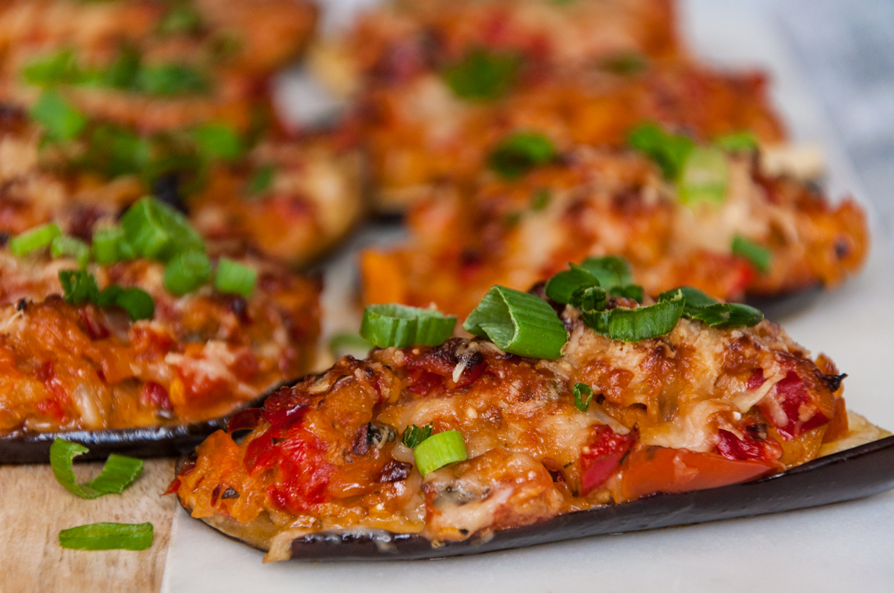 Stuffed Eggplants with Crusted Parmesan | thespiceathome.com