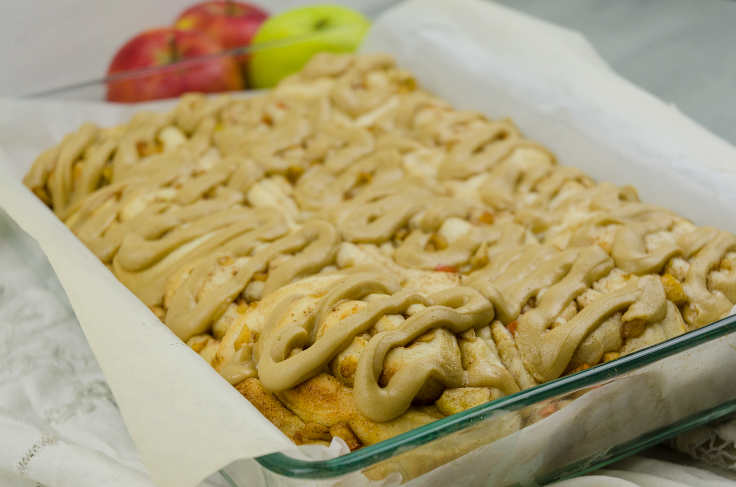 Apple Cinnamon Rolls with Caramel Icing | thespiceathome.com