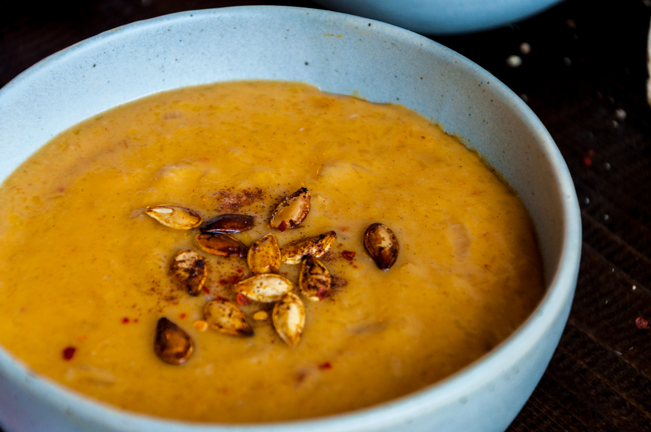 Roasted Pumpkin Spice Coconut Soup - thespiceathome.com