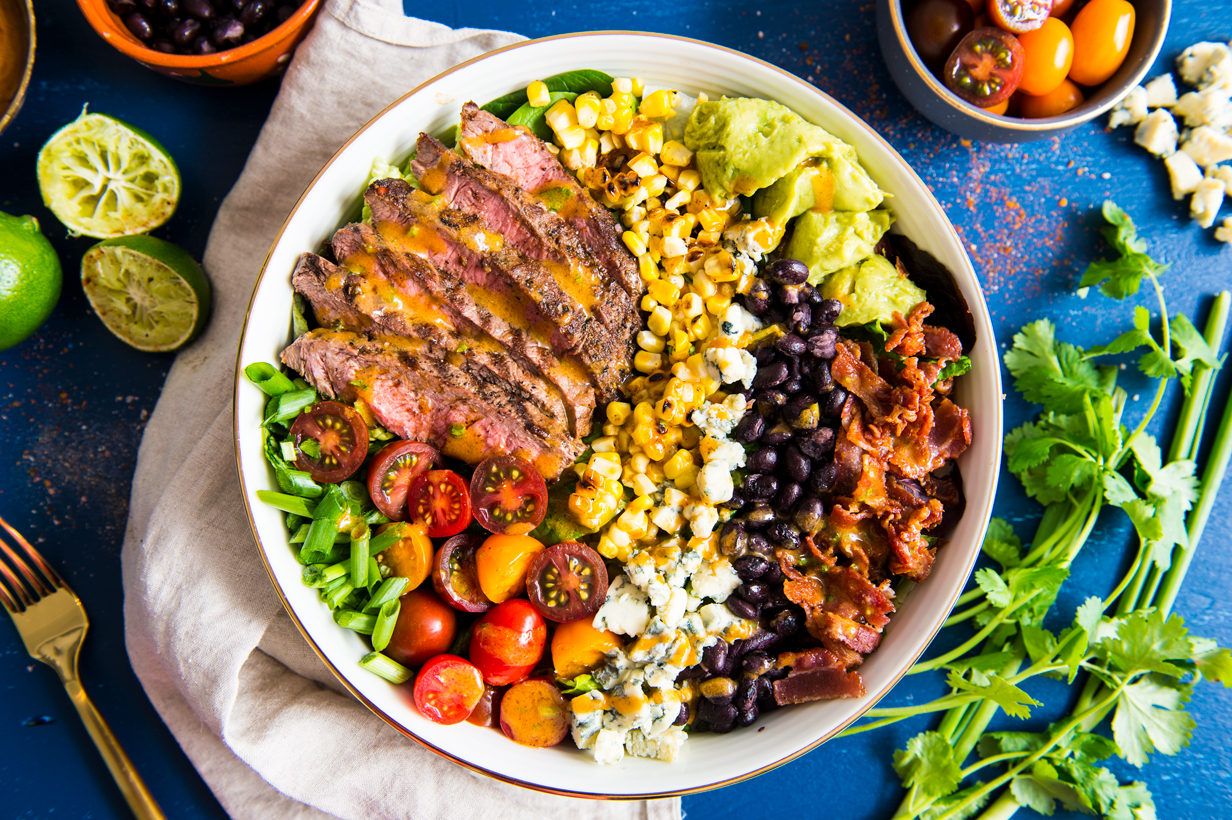 Spicy Cobb Salad with Cajun Grilled Steak