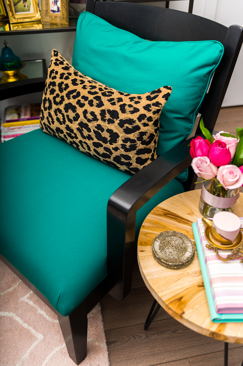 Accent Chair Makeover | thespiceathome.com