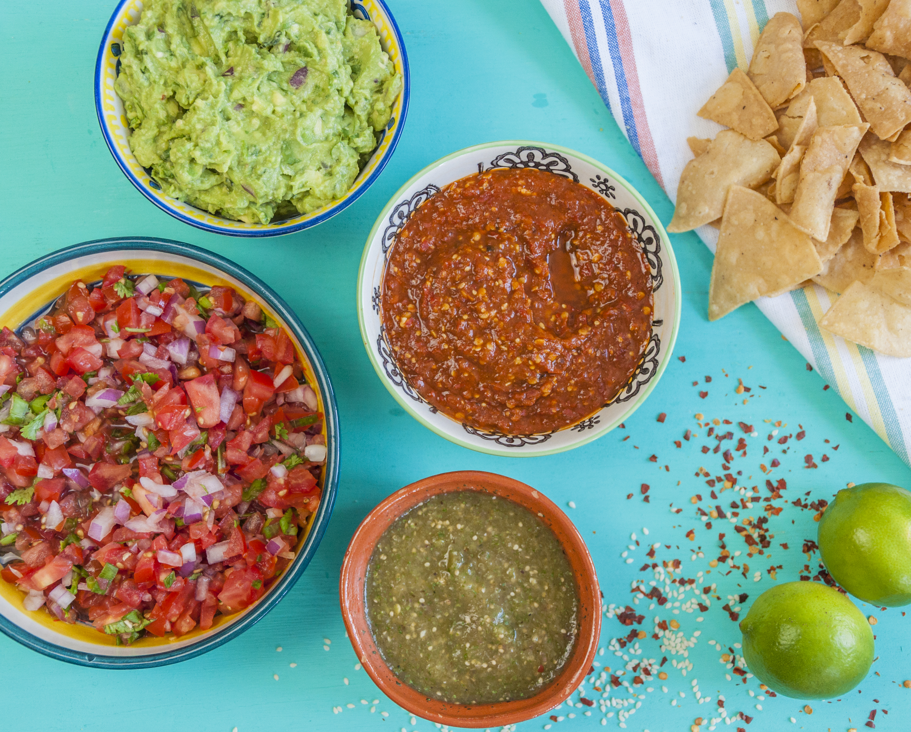 Mexican Dips 4 Ways | thespiceathome.com