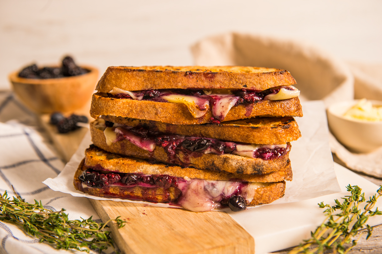 Blueberry Blackberry Grilled Cheese | thespiceathome.com