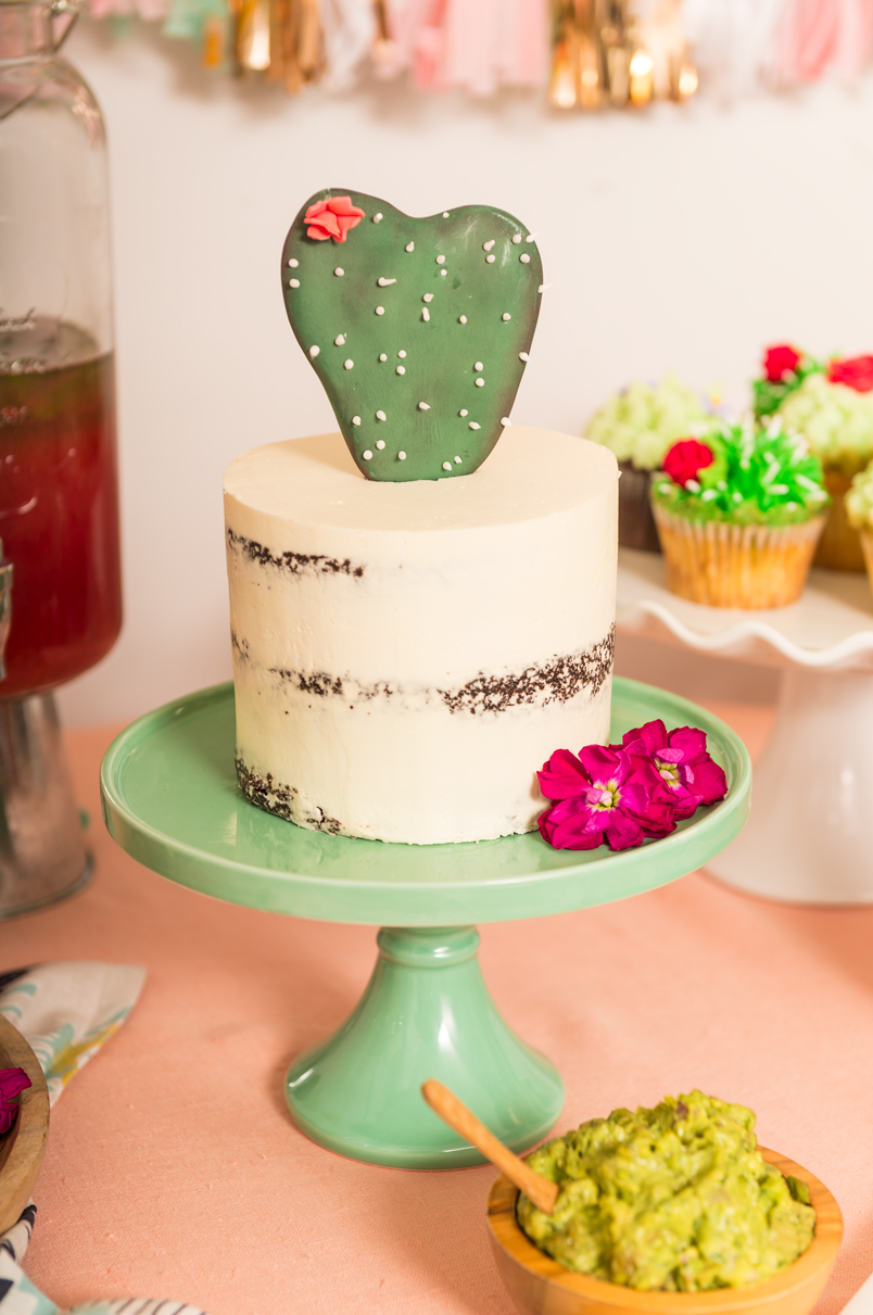 Cactus themed party with Southwestern dinner and watermelon mojitos