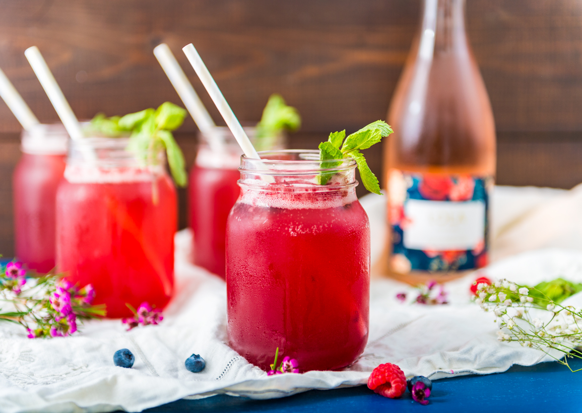 Fresh berry coulis mixed with orange blossom & vodka, then topped with lots of rosé